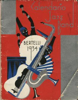 D11 Calendario Jazz Band. Bertelli 1934